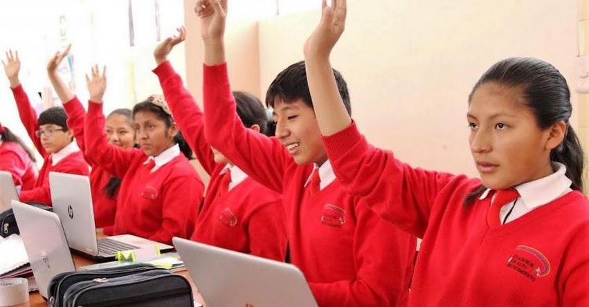 Acceso a internet de estudiantes de secundaria aumentó notablemente a nivel nacional, informó el MINEDU - www.minedu.gob.pe