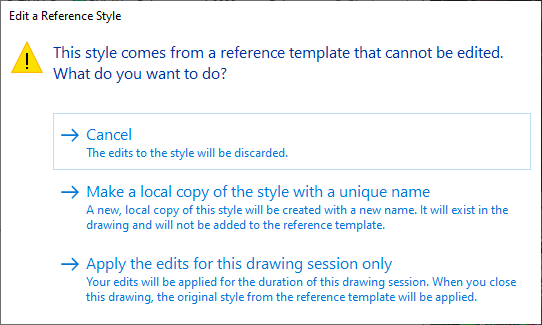 Edit a reference style in Autodesk Civil 3D