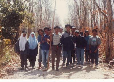 foto ketika praktek umum di hutan jati Madiun