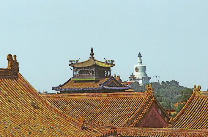 Pékin, Beijing, Palais Impérial, Cité interdite, toitures, échine de dragon, © L. Gigout, 1990