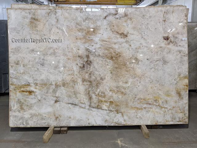Cristallo Polished Quartzite Slab NYC