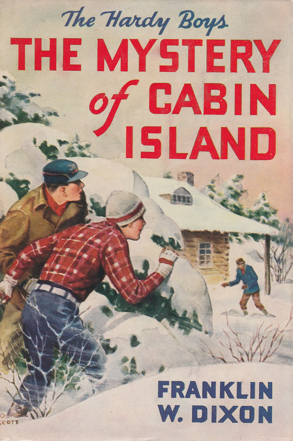 In The Original Text Of Hardy Boys #8, The Mystery Of Cabin Island, The  Hardy Boys Rent A Cabin On Cabin Island. They Plan To Spend The Christmas  Holidays ...