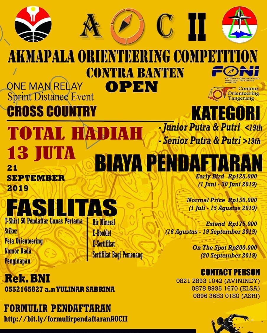 AOC II - Akmapala Orienteering Competition II Contra Banten Open • 2019