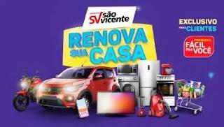 Cadastrar Promoção São Vicente 2020 Renova Sua Casa - 1 Ano Compras Grátis, Carro e Moto