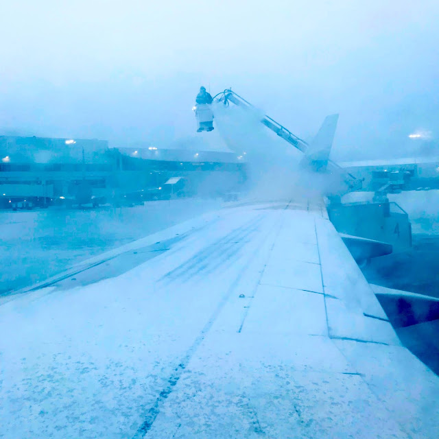 Anchorage Airport Alaska Plane De-Icing (C) 2020 Supratim Sanyal