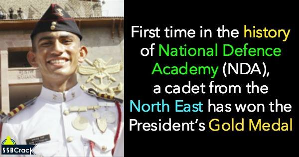 Avinash Chettri - first cadet from the North East to win President's Gold Medal