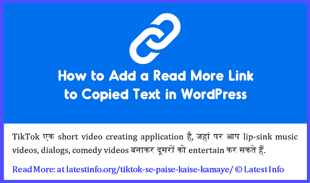 Add Read More Link to Copied Text in WordPress