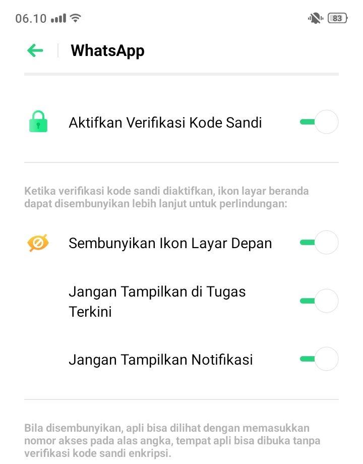 Sembunyikan Aplikasi di ColorOS