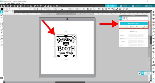 warp tool, silhouette studio, cameo 4, designer edition, Business Edition