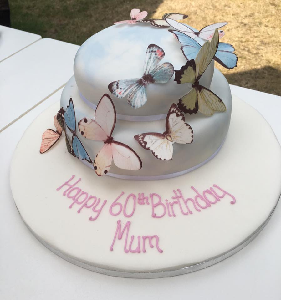The Gorgeous Cake We Had For My Mums Birthday From Marks And Spencer Butterflies Were Edible Although I Really Didnt Want To Eat Them