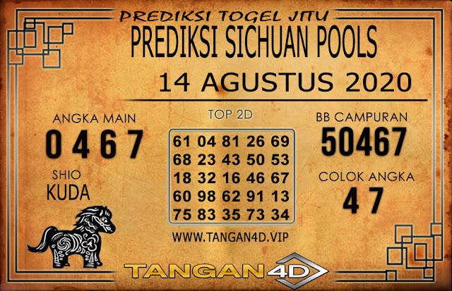PREDIKSI TOGEL SICHUAN TANGAN4D 14 AGUSTUS 2020