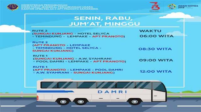 Jadwal Damri Bandara APT Pranoto Samarinda