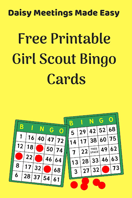 Create Your Own Free Girl Scout Bingo Cards