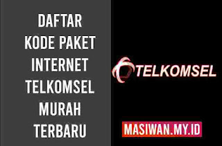Daftar Kode Paket Internet Telkomsel Murah Terbaru 2020