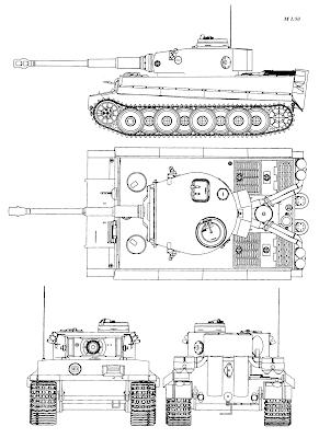 World War II Tiger tank plans from drawingdatabase.com