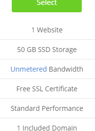 bluehost ssd with shared hosting