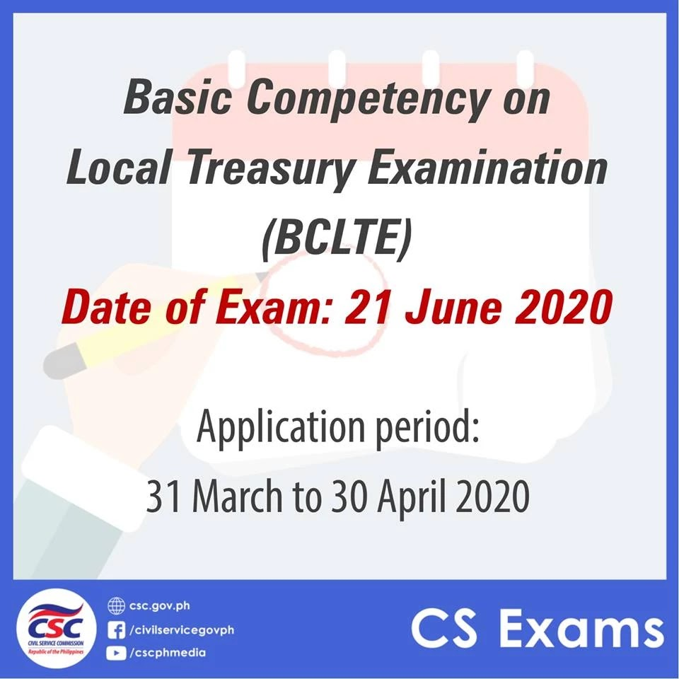 2020 Basic Competency on Local Treasury Examination (BCLTE)