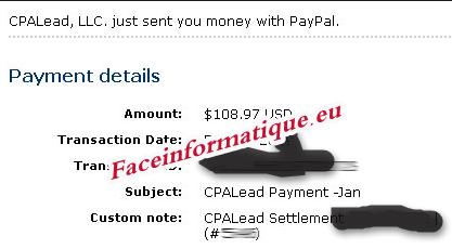 اتبات الدفع CPAlead
