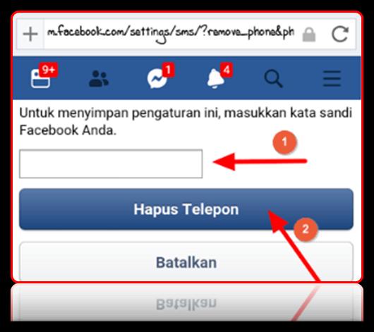 cara merubah no telepon di facebook