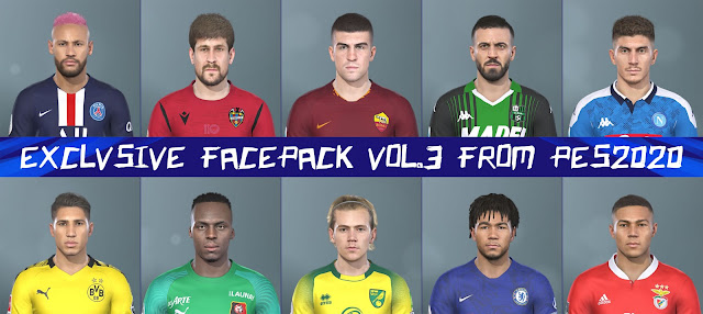 PES 2019 Exclusive Facepack V.3 By H.S.H EditMaker