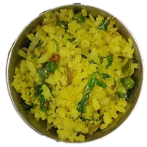 Onion Kanda Green Peas Poha quick recipe of Maharashtra for Breakfast||