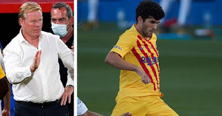 Koeman happy with Barcelona midfielder Alena's performances in training, set to give more minutes