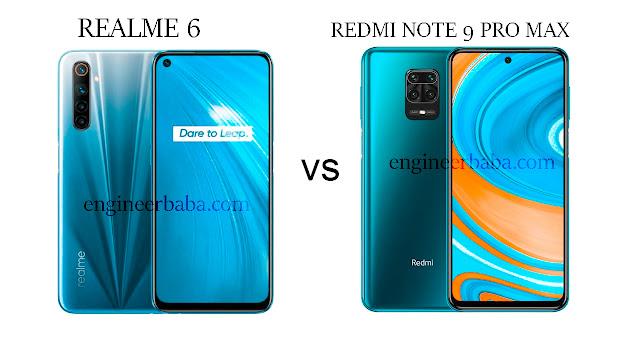 Redmi Note 9 Pro vs realme6s