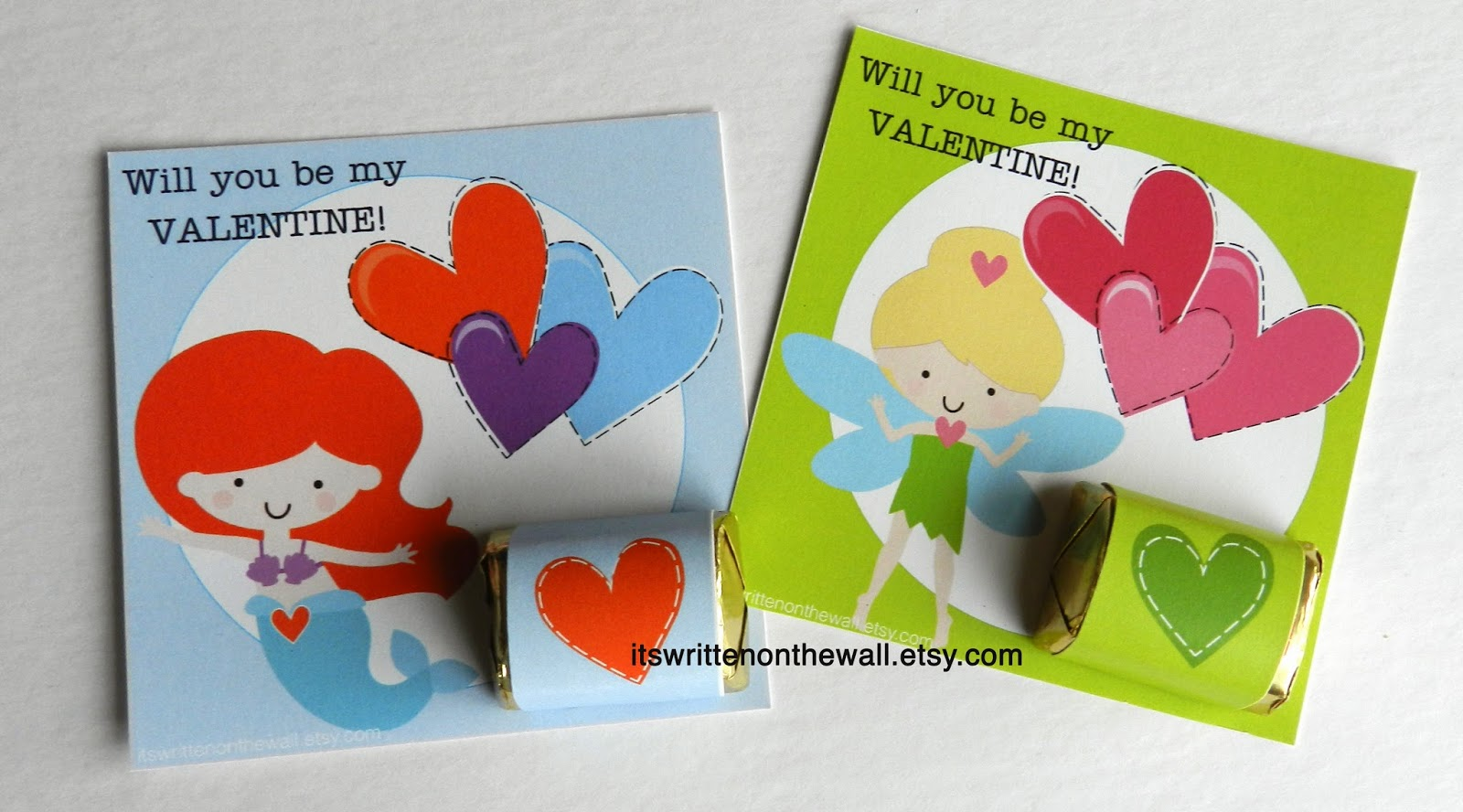 Its Written on the Wall Valentines Day Cards Plus for the Kids – Valentines Cards for Girls