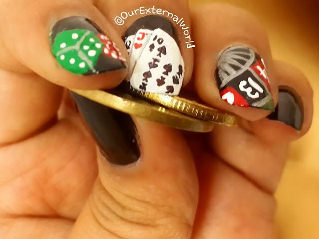 casino nails, Las Vegas, roulette