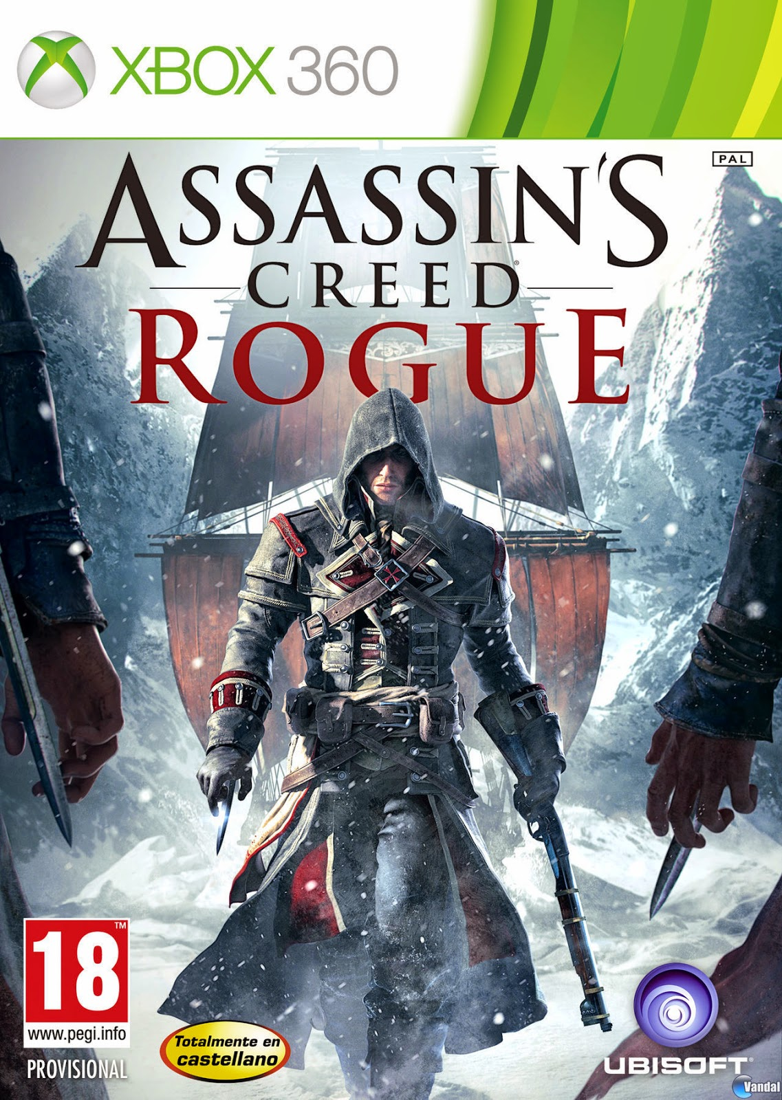 Assassin's Creed Rogue XBOX 360 Cover Caratula