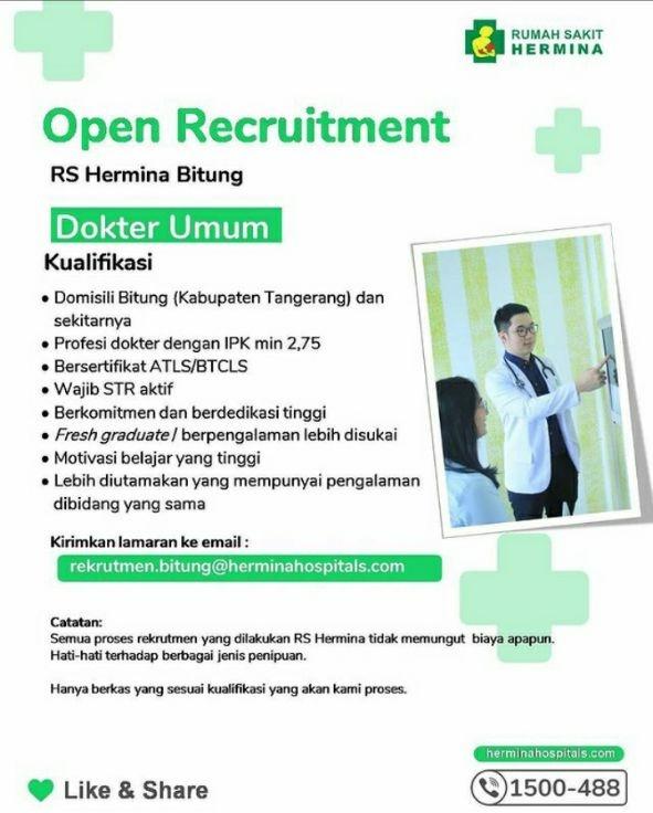 Loker Dokter RS Hermina Bitung (Kabupaten Tangerang)