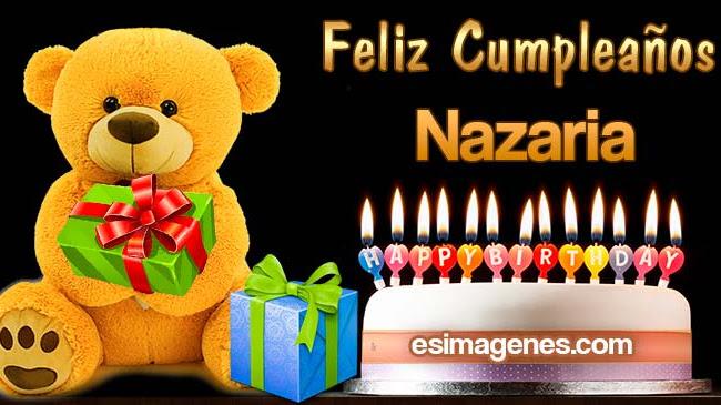 Feliz cumpleaños Nazaria