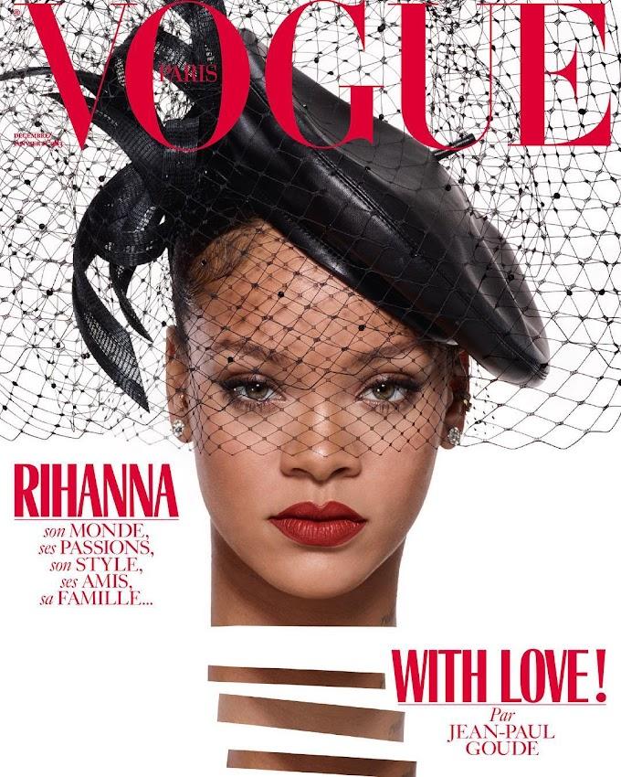 Rihanna covers Vogue Paris Christmas Issue