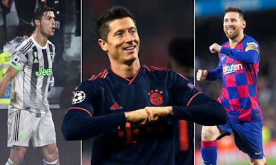 Ronaldo 5 bàn/5 trận: Messi khóc thét, Lewandowski lo mất Giày vàng