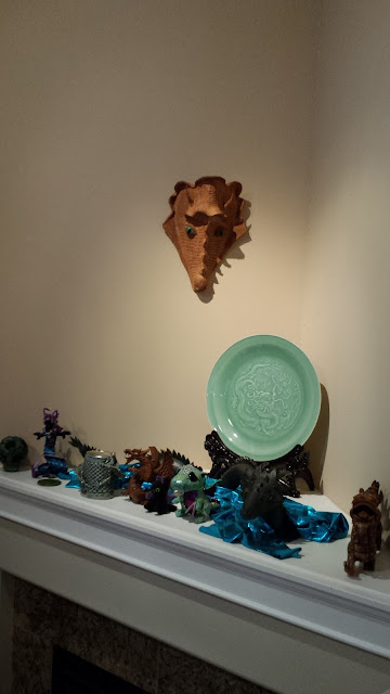 Bob Kingsmill inspired pottery dragon mask by Lily L.