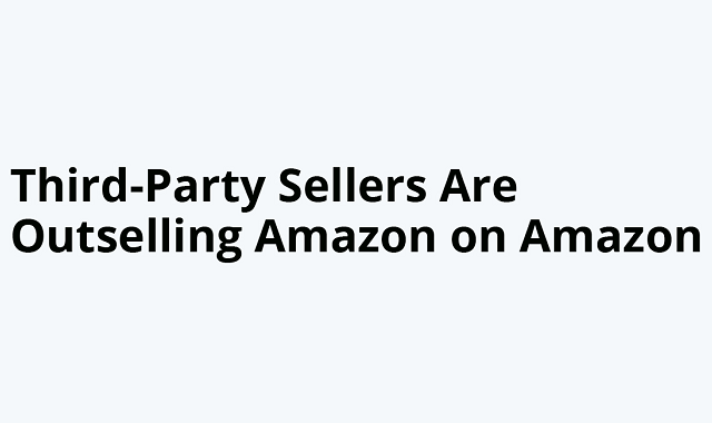 Amazon's third-party sellers are kicking first party's butt