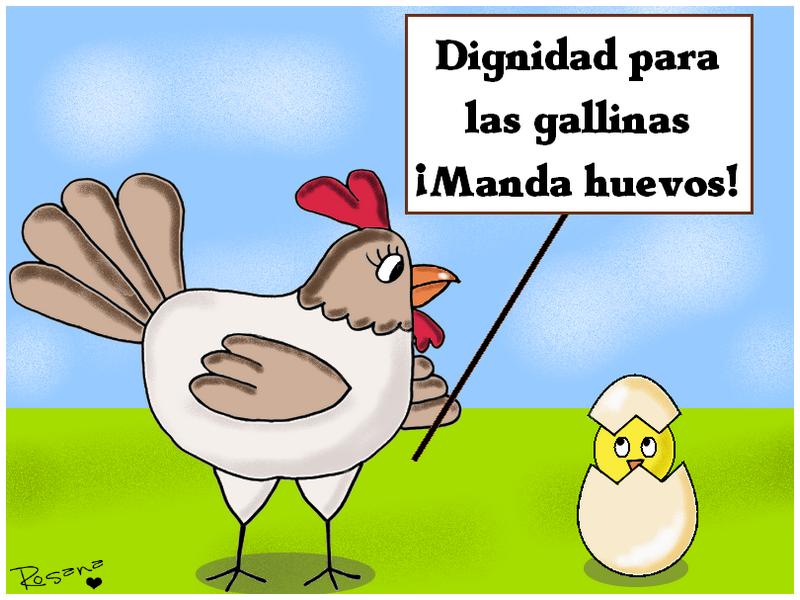 dibujo-gallina-cartel-dignidad
