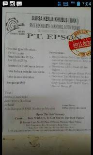 Info Loker Terbaru PT Epson Industry Elektronik Indonesia (Ejip)