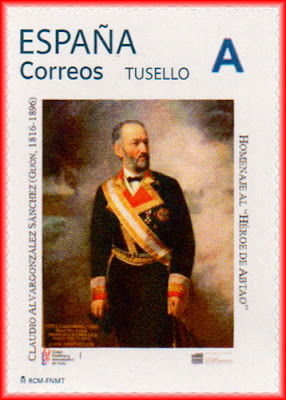 filatelia, matasellos, sello,  Claudio Alvargonzález, fragata Villa de Madrid,  Grupo filatélico, Gijón
