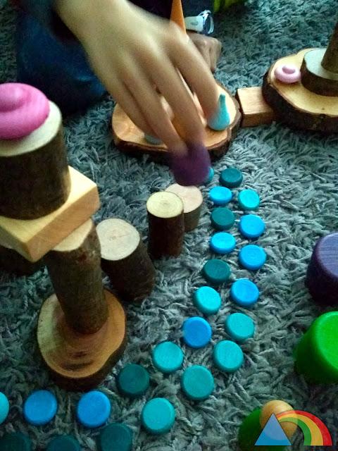 Juegos con piezas de mandala de Grapat