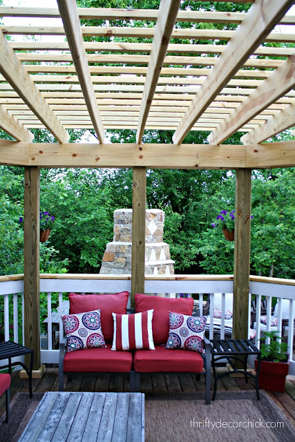 large pergola on deck