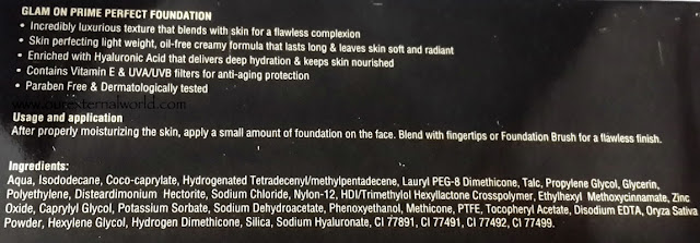 Faces Glam On Prime Perfect Foundation - Review, Swatches