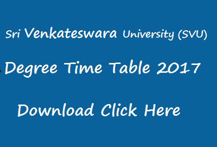 svu time table 2017 manabadi