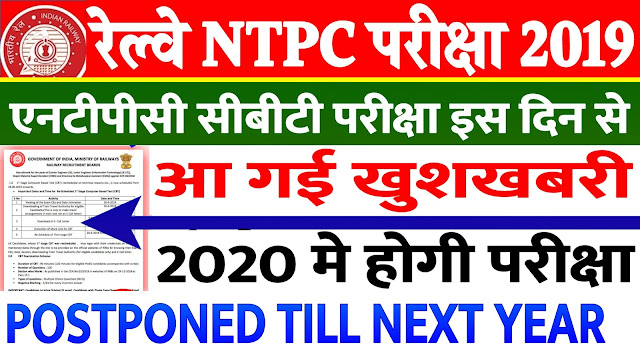 RRB NTPC Exam Date 2019 Latest Updates Admit Card Link