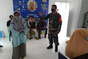Danramil 416-05/Muara Tebo Kembali Pantau Vaksinasi di Tiga Kecamatan
