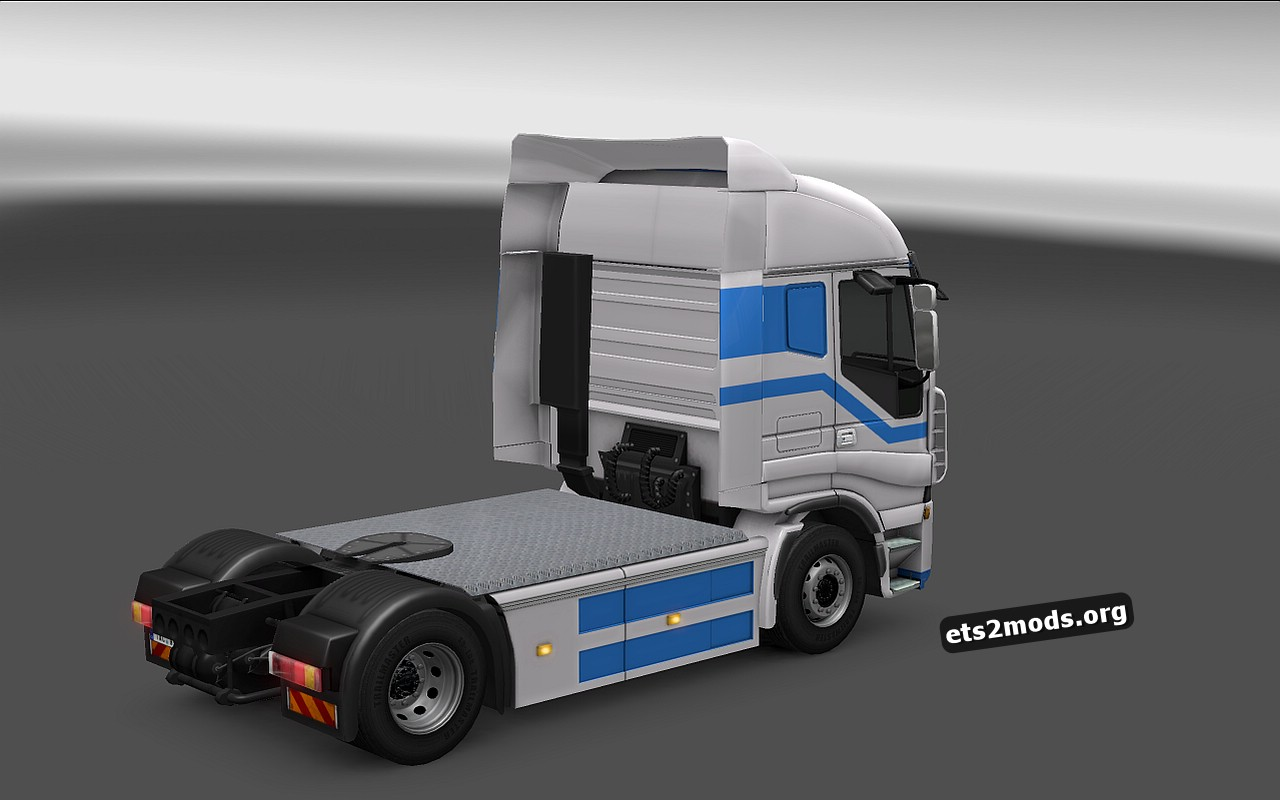 Custom Blue Skin for Iveco Stralis
