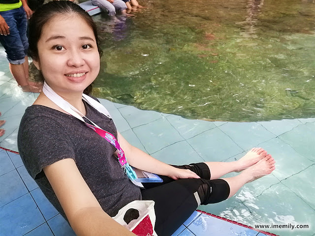 Dipping your feet at La Hot Spring @ Besut