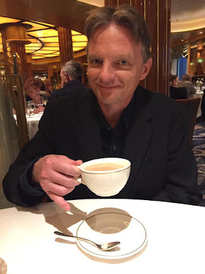 Out 'poshing' posh afternoon tea. Me, enjoying an after dinner tea. Photo: Enigma