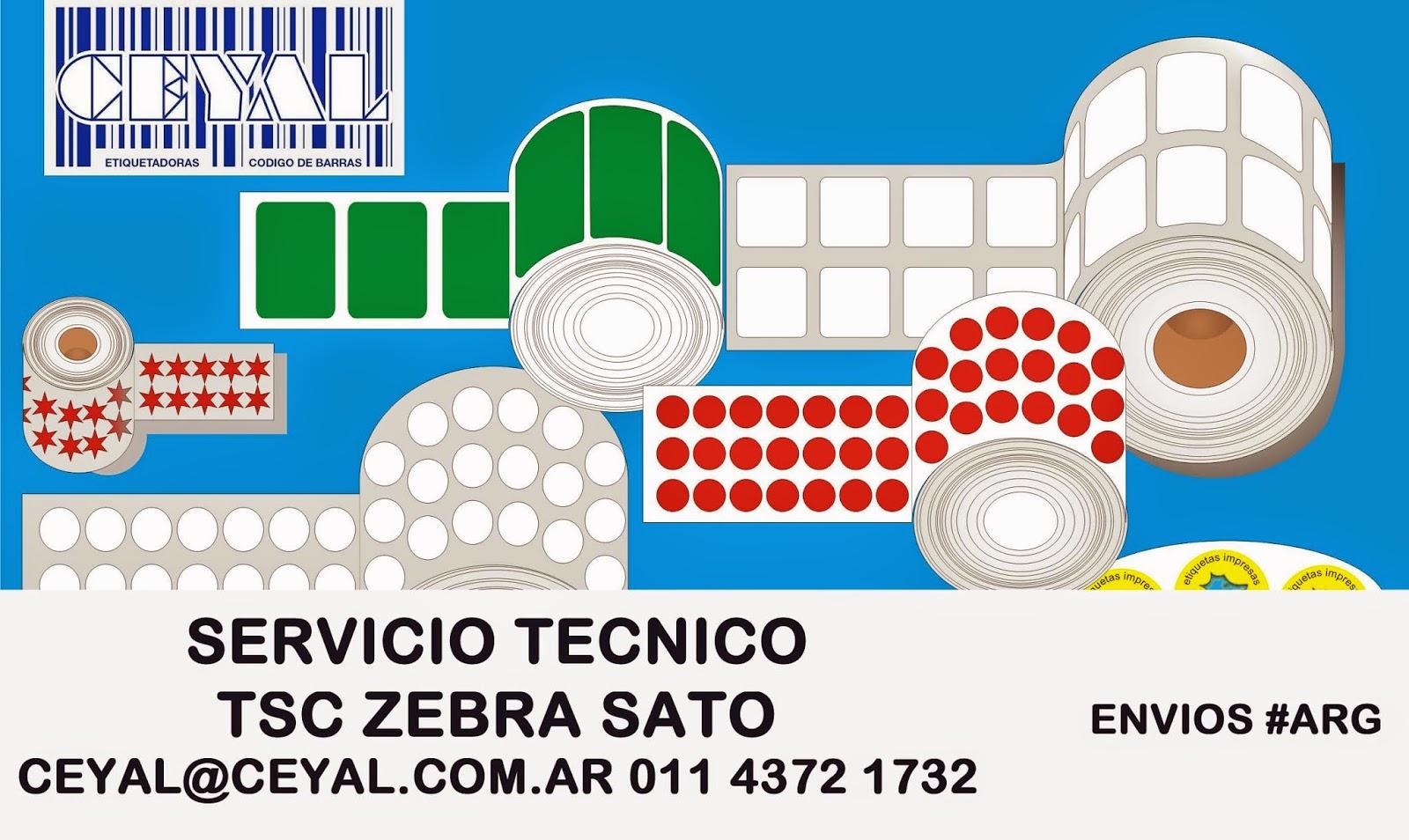 Rollos Etiquetas Impresoras Zebra Sato Datamax Intermec Capital BsAs
