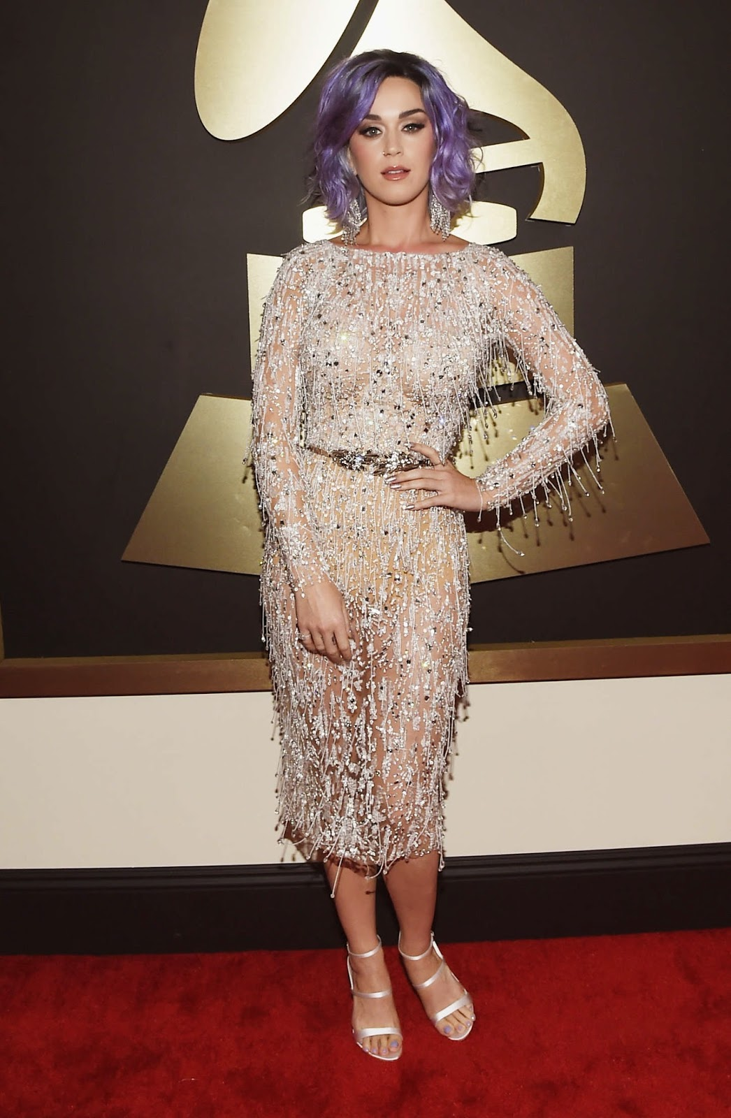 Katy Perry Shimmers In A Zuhair Murad Couture Dress At The